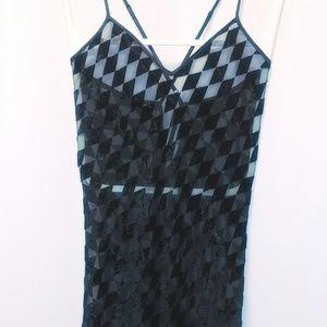 (M) VS Semi sheer full length night gown MINT!